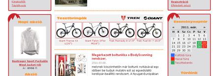Kerékpár webshop, kerékpár webáruház