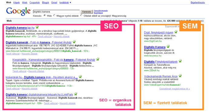 Google optimaliz�l�s - keres�optimaliz�l�s
